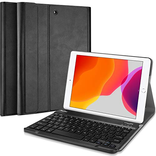 ProCase New iPad 7th Generation Case with Keyboard, iPad 10.2 2019 Keyboard Case Lightweight Smart Cover with Magnetically Detachable Wireless Keyboard for Apple iPad 10.2 Inch 7th 2019 -Black
