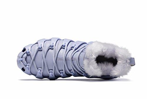 Onemix Sneakers In Pelliccia Foderata Da Donna, Tre Modi Di Indossare Scarpe Romane, Stivali Alti Alla Caviglia Grigio Inverno