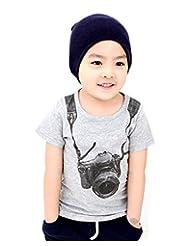 Kid Boy Camera Pattern Casual T-shirt Short Sleeve Cotton Shirt