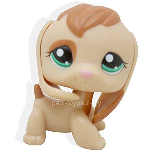 [LHJ Littlest Pet Shop Tan Orange Patch Eye Beagle Dog Green Eyes Ultra LPS #1664] (Llama Costume Ebay)