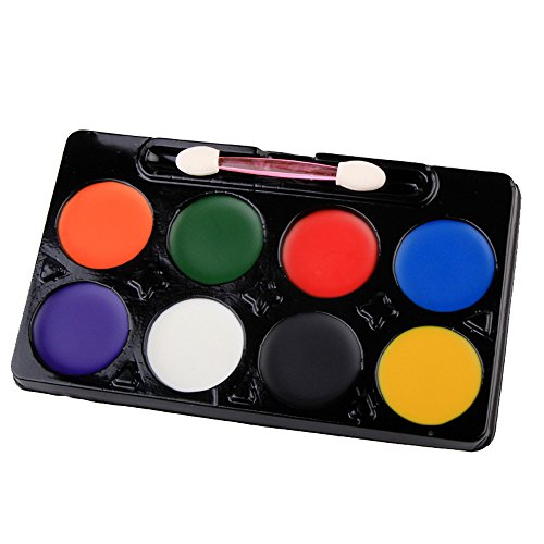 JPOQW 8 Colors Halloween Face Paint Kit Color Set DIY Body Paste Painting Hose Cream Makeup Face Color]()