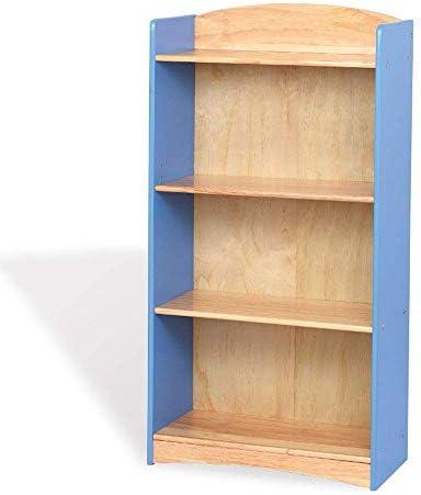 Storage Shelf Solid Wood Bookcase Kids Bookshelf Student Shelf Nursery Shelf Bookshelf Bookshelf Bookshelf Display Bookcase 63X30X120CmBlue