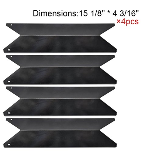 The Red BBQ 91191(4-pack) Porcelain Steel Heat Plate Replacement for Select Gas Grill Models by Kenmore, Nexgrill and Others by The Red BBQ