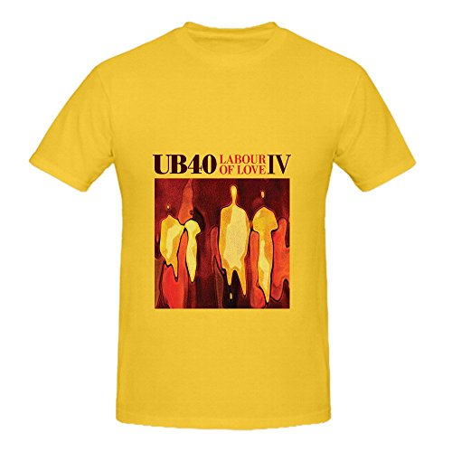 Ub40 Labour Of Love Iv Soundtrack Mens O Neck Graphic Shirts Yellow