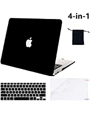 Proxima Direct MacBook Pro 13 Inch Case A2251/A2289/A2159/A1989/A1706/A1708 & MacBook Air 13 Inch A1932/A2179, Plastic Hard Shell Cover & Keyboard Skin Cover & Screen Protector & Storage Bag, Black