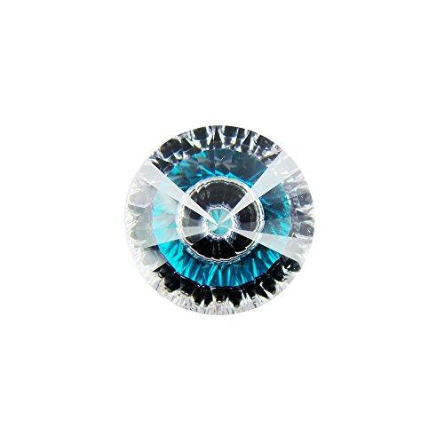 Alone Moon Splicing color eyes round cubic zirconia distinctive loose gemstones 10PCS (6MM, - Cubic Eyes Zirconia