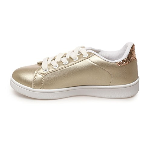 La Modeuse - Zapatos de cordones para mujer, plateado (plata), 38