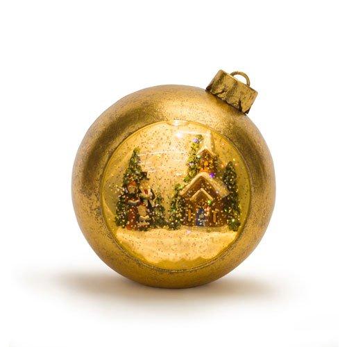 Melrose International Lighted Musical Snow Globe Carolers Ornament (Musical Angel Snowglobe)