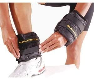 Gold s Gym Adjustable Pair Wrist Ankle Weights – 2 x 2.5 Pounds Ankle Weights