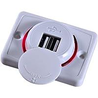 Podwójne gniazdo USB do ładowania 3,1 A telefon tablet szybkie gniazdko z adapterem do ładowania LED do autobusów statku…