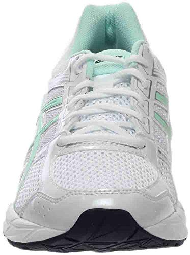 ASICS Women's Gel-Contend 4 Running Shoe, White/Bay/Silver, 5 M US by ASICS (Image #4)