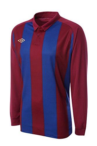 (Umbro Men's Long Sleeved Soccer Jersey Clifton Stripe XX-Large Claret/Royal Blue)