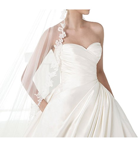Prom Style Princess Satin traegerlos Brautkleider lang Schleppe ...