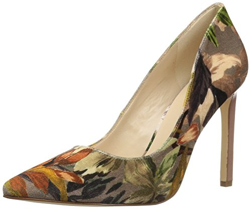 Nine West Women's Tatiana Fabric Pump, Angel Floral Velvet, 9 Medium US by Nine West