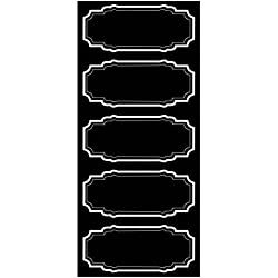 Wallies Peel and Stick Black Chalkboard Labels, Set of 10