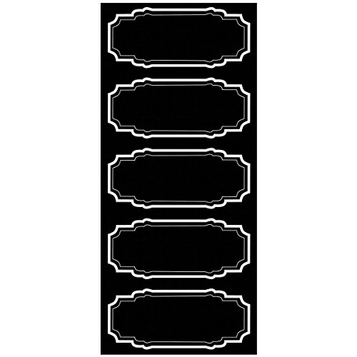 Wallies Peel and Stick Black Chalkboard Labels, Set of 10
