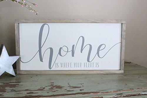 Home is Where Your Heart Is Farmhouse Style Sign