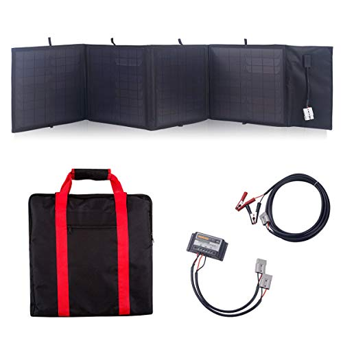- Betop-camp 60W 12V Portable Folding Solar Panel with a 20A Controller for Camper, Caravan, Caravanning, Motorhome Rallies, Trade Shows, Mobile Offices 12V System(Black)