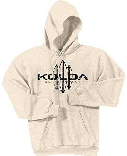 - Koloa Surf -Vintage Surfboard Hoodies-Hooded Sweatshirt-Natural-M