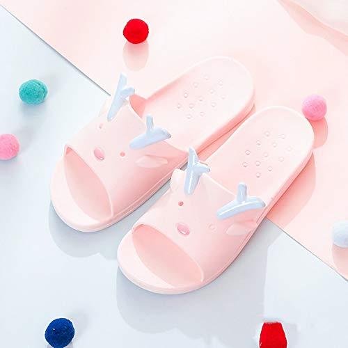 Home Coreana Spessa E Indoor Bagno Dimensioni colore Casalinghe Di Donna Versione Lixizhong Antiscivolo Pink Pink Pantofole 39 Doccia Estate Coppia xOvqIqf