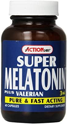 Amazon.com: Action Labs Super Melatonin Plus, Capsules, 60 Count: Health & Personal Care