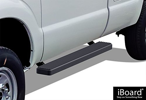 "APS IBFZ4989 Black 5"" Running Board Side Step (iBoard Third Generation, for Selected Ford F-250/F-350 SD Regular Cab, Aluminum)"