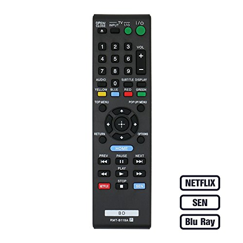 LuckyStar Replacement Remote Control for Sony BD Blue Ray DV
