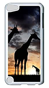 Brian114 Case, iPod Touch 5 Case, iPod Touch 5th Case Cover, Cute Giraffe 5 Retro Protective Hard PC Back Case for iPod Touch 5 ( white )