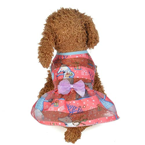 YOTATO Dog Dress Summer Spring Colorful Puppy Princess Polyester Solid Costumes Clothes]()