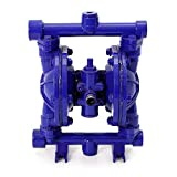 Air-Operated Double Diaphragm Pump 1/2 inch Inlet & Outlet Cast Iron 12 GPM Max 120PSI for Chemical Industrial Use