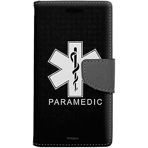Samsung Galaxy S7 Edge Wallet Case - Silhouette Paramedic on Black Case Sales
