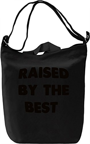 Raised by Best Borsa Giornaliera Canvas Canvas Day Bag| 100% Premium Cotton Canvas| DTG Printing|
