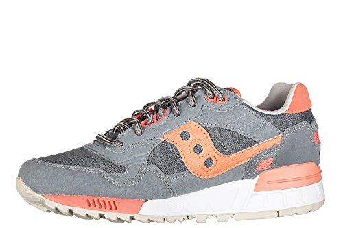 Saucony scarpe sneakers donna camoscio nuove shadow 5000 grigio