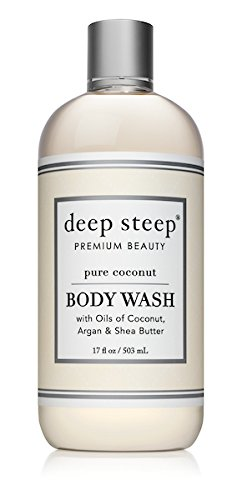(Deep Steep Coconut Oil Body Wash, Pure, 17 Fluid Ounce)