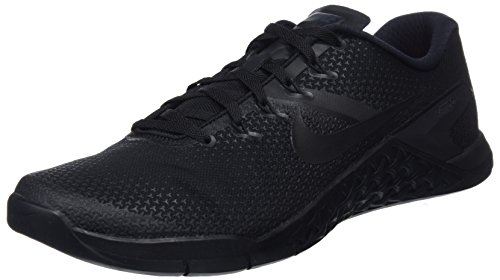 Nike Mens Metcon 4 Black/Black-Black-Hyper Crimson Running Training Shoes (10 D US)