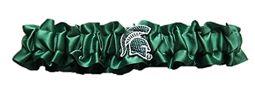 Michigan State Dainty Satin Garter
