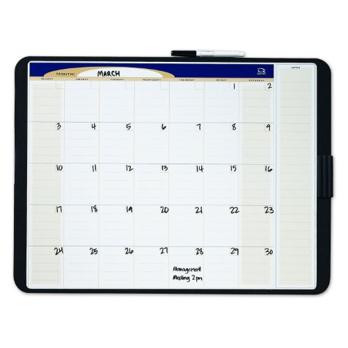 - Quartet CT1711 Quartet Tack & Write Monthly Calendar Board, 17 x 11, Black