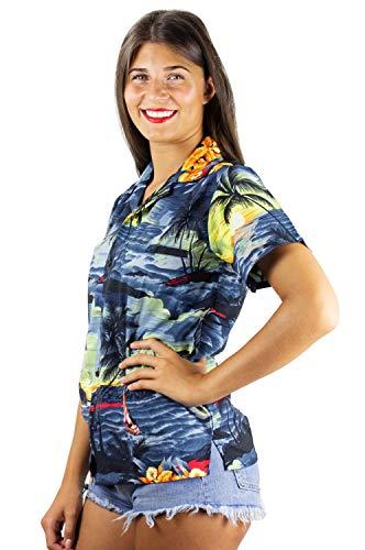 Delantero Camisa King Newsurf Bolsillo 6xl Original Gris Hawaii De Manga Xs Impresión Hawaiana Funky Corta Mujeres Kameha 1Pd1xFqt4