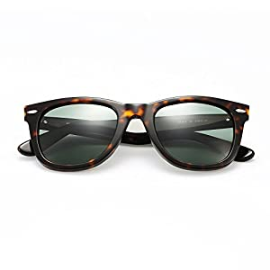 Wayfarer sunglasses for men polarized with MAZZUCCHELLI acetate frame,High-Definition lens ,UVA/UVB protection