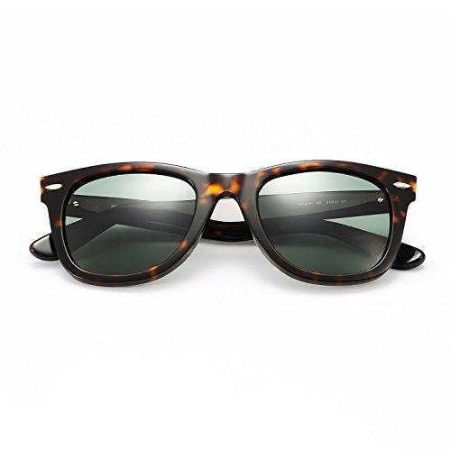 Wayfarer sunglasses for men polarized with MAZZUCCHELLI acetate frame,High-Definition lens,UVA/UVB protection