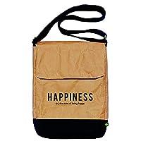 """Mensajera 11"""" Happiness hecho con papel reutilizado/reciclado"""