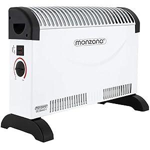 Toolland Ventilator-Funktion und Thermostat Elektrischer Heizl/üfter mit 2 Heizstufen