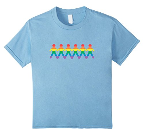Kids Gay Rainbow Paper Dolls LGBTQ - Unite People Shirt v2 8 Baby Blue (Tee Baby People Doll)