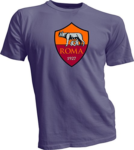 A.S. Roma Giallorossi Italy Serie A Football Soccer T-Shirt Men's Gray Large by Great Tees