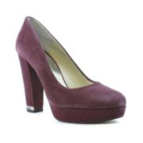 Womens Sabrina Pump Suede Round Toe, Plum, Size 6.5 (Michael Kors Suede Platform Pumps)