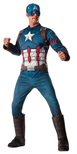 Make Your Own Male Halloween Costume (Rubie's Men's Marvel Captain America: Civil War Deluxe Costume,)