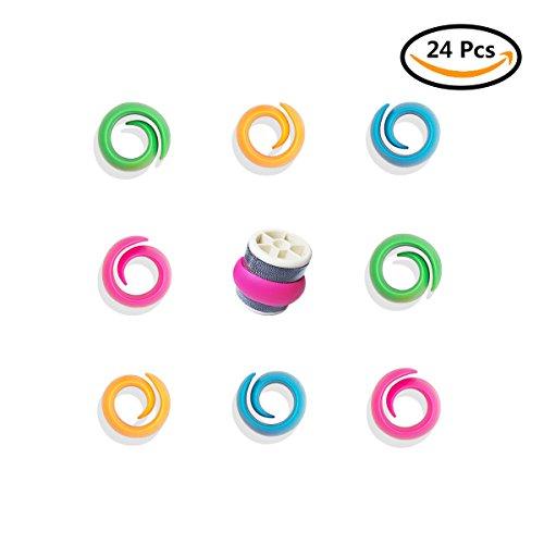 24Pcs Peels Thread Spool Huggers, ABUFF Silicone Sewing Machine Thread Spools Savers. Keep Spools Threads from Unwinding, NO Loose Ends