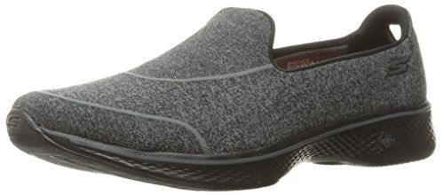 Skechers 14161 - Zapatillas de Nordic Walking de Sintético para Mujer Negro/Blanco, Color Black (Bbk)