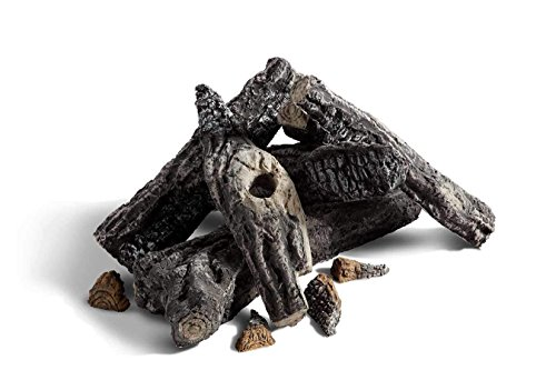 Hearth Products Controls HPC Outdoor Ceramic Gas Log Set (FPL24W6), Woodland Style, 6 Piece (For use with 30-Inch Burner)