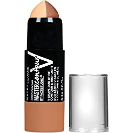 Maybelline Facestudio Master Contour V-Shape Duo Stick, Deep Shade Contour Stick, 0.24 oz